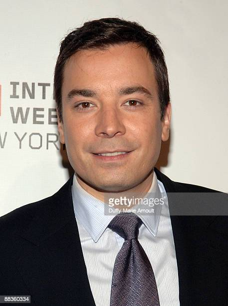 Personality and Webby Person of the Year Jimmy Fallon attends the 13th annual Webby Awards at Cipriani Wall Street on June 8 2009 in New York City
