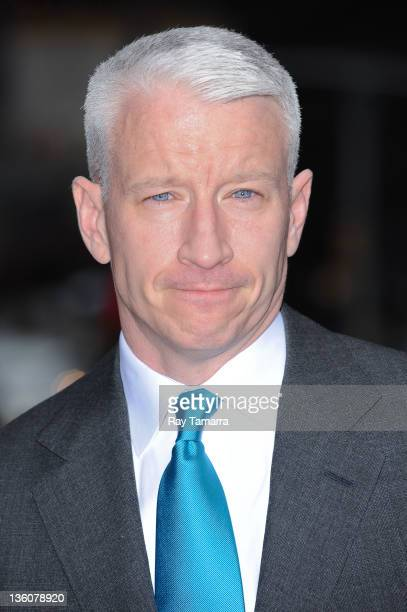 TV personality Anderson Cooper enters the 'Late Show With David Letterman' taping at the Ed Sullivan Theater on December 22 2011 in New York City