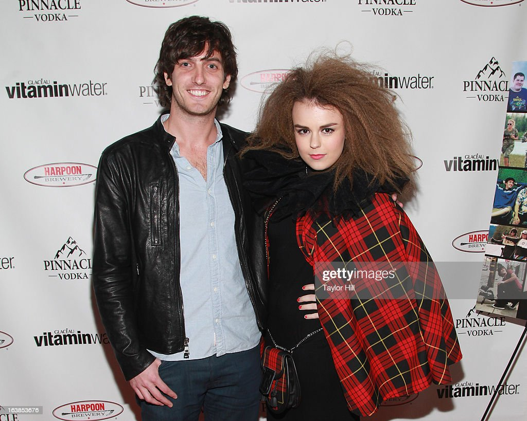 TV personality Andrew Jenks and singer Tallia Storm attends the 'World Of Jenks' Season 2 Premiere And 'Andrew Jenks: My Life As A Filmmaker' Book Launch Party at Solo on March 16, 2013 in New York City.