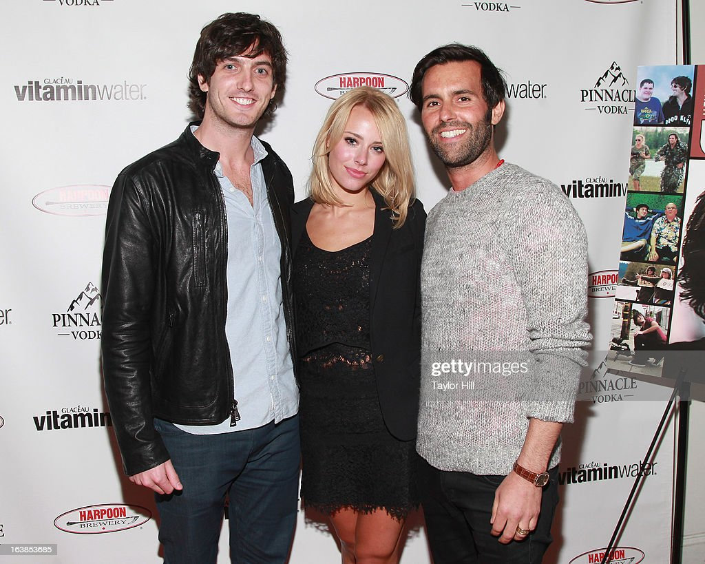 TV personality Andrew Jenks, Kassandra Hannay, and producer Charlie Corwin attend the 'World Of Jenks' Season 2 Premiere And 'Andrew Jenks: My Life As A Filmmaker' Book Launch Party at Solo on March 16, 2013 in New York City.