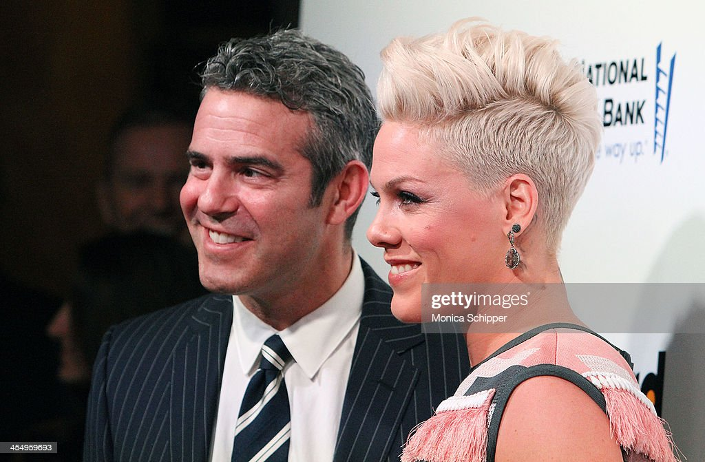 TV personality Andy Cohen and singer-songwriter P!nk attend the 2013 Billboard Annual Women in Music Event at Capitale on December 10, 2013 in New York City.