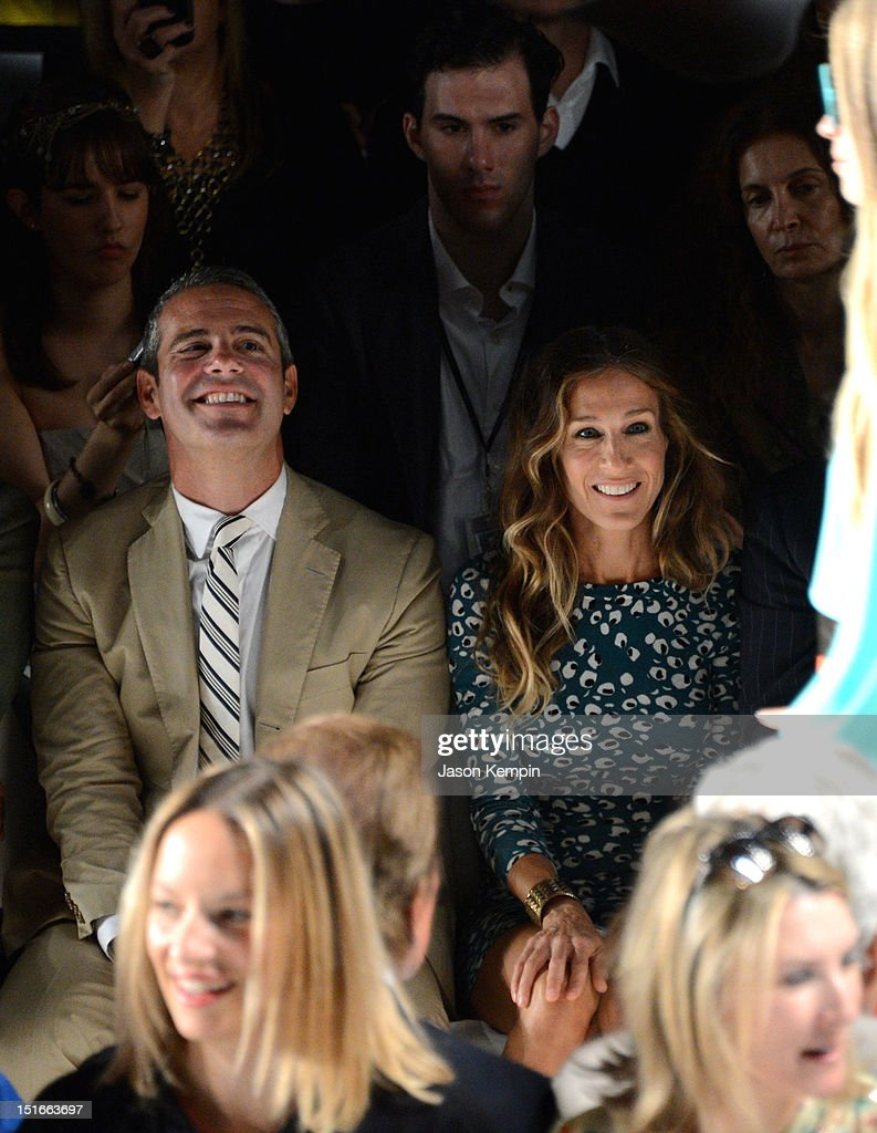 TV Personality Andy Cohen, Sarah Jessica Parker attend the Diane Von Furstenberg show during Spring 2013 Mercedes-Benz Fashion Week at The Theatre at Lincoln Center on September 9, 2012 in New York City.