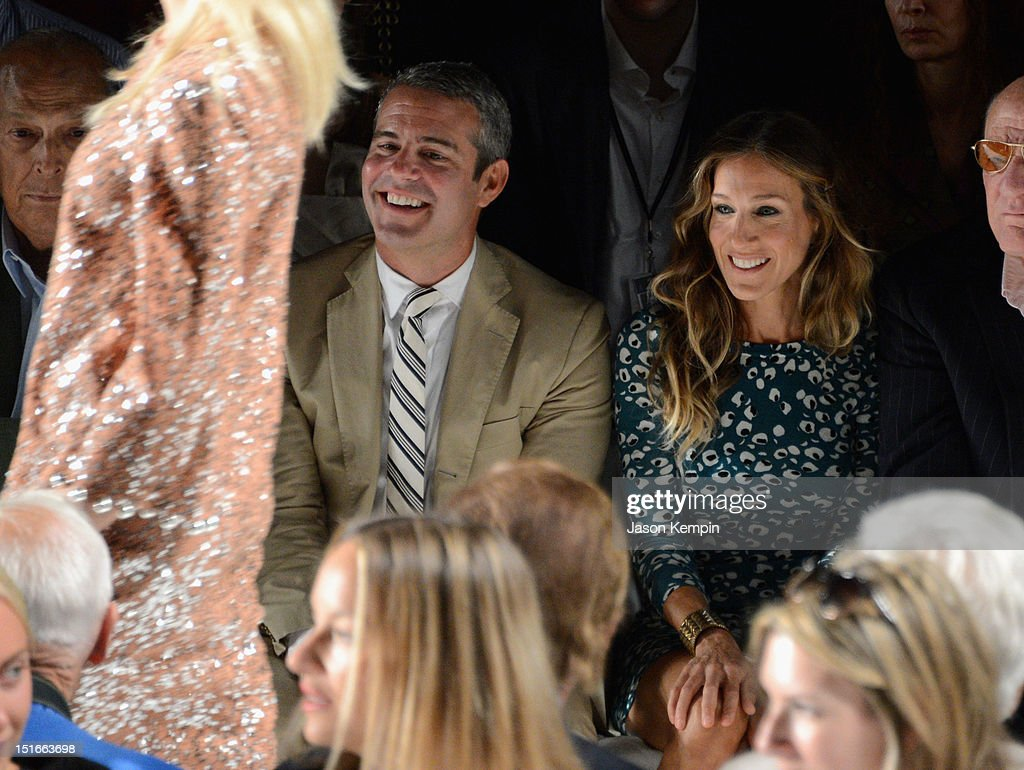 TV Personality Andy Cohen, <a gi-track='captionPersonalityLinkClicked' href=/galleries/search?phrase=Sarah+Jessica+Parker&family=editorial&specificpeople=201693 ng-click='$event.stopPropagation()'>Sarah Jessica Parker</a> attend the Diane Von Furstenberg show during Spring 2013 Mercedes-Benz Fashion Week at The Theatre at Lincoln Center on September 9, 2012 in New York City.
