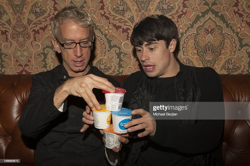 TV personality Andy Dick and Actor Paris Dylan attend Interscope Records AMA After Party Hosted By NIVEA Lip Butters & Ciroc Ultra Premium Vodka Portraits Inside on November 18, 2012 in Los Angeles, California.