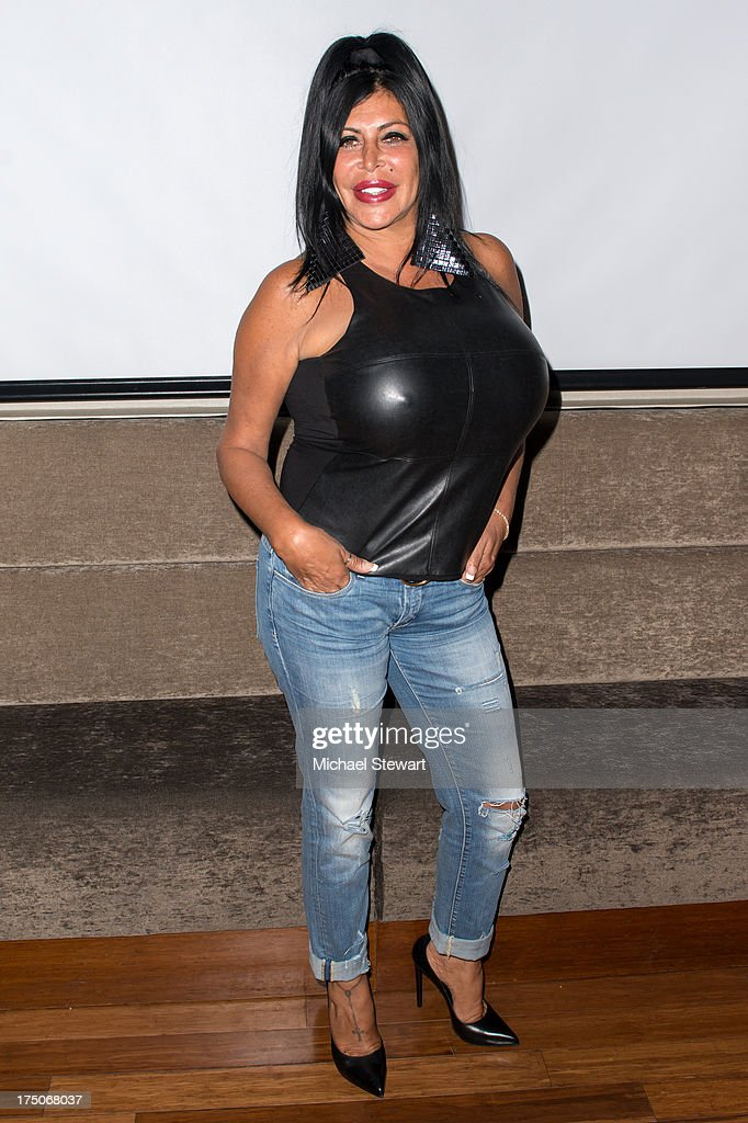 TV personality Angela 'Big Ang' Raiola attends dinner and a movie at KTCHN Restaurant on July 30 2013 in New York City