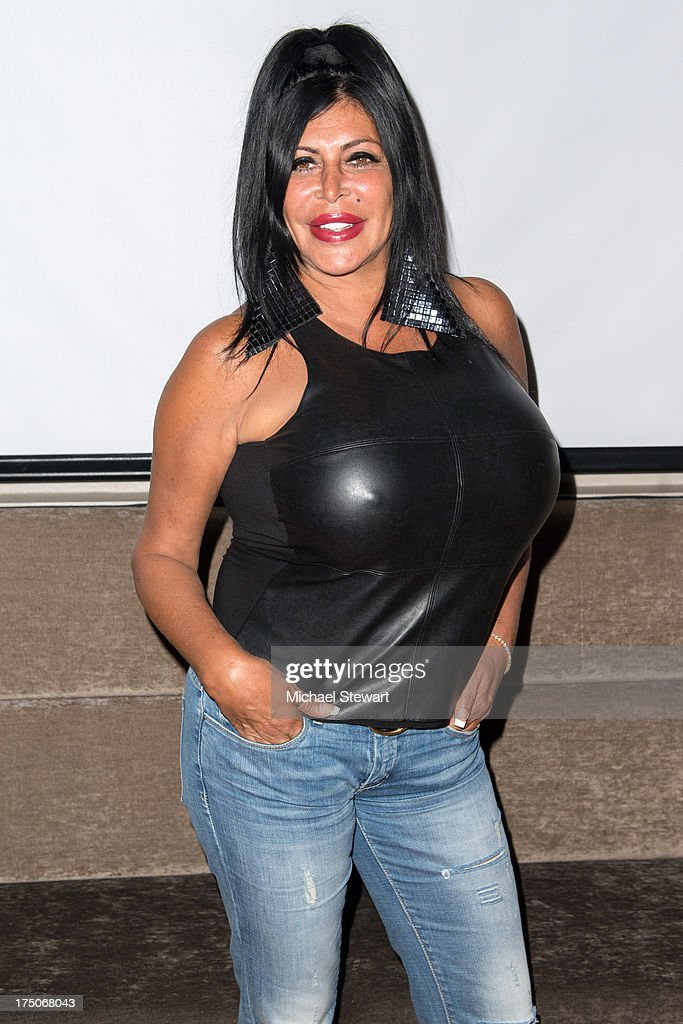 TV personality Angela 'Big Ang' Raiola attends dinner and a movie at KTCHN Restaurant on July 30, 2013 in New York City.