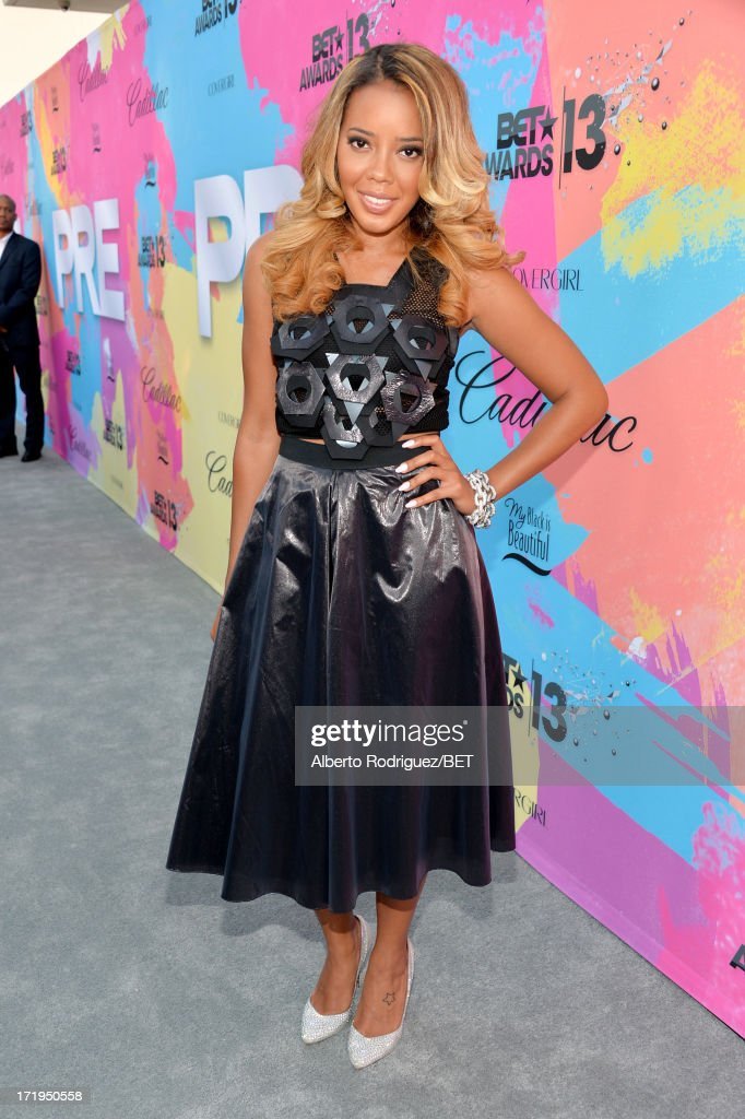 TV personality <a gi-track='captionPersonalityLinkClicked' href=/galleries/search?phrase=Angela+Simmons&family=editorial&specificpeople=653461 ng-click='$event.stopPropagation()'>Angela Simmons</a> attends Debra Lee's Pre-BET Awards Celebration Dinner at Milk Studios on June 29, 2013 in Los Angeles, California.
