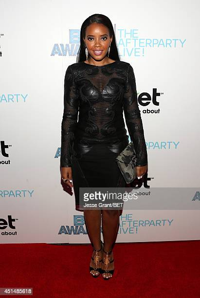TV personality Angela Simmons attends the BET AWARDS '14 post show at Nokia Theatre LA LIVE on June 29 2014 in Los Angeles California