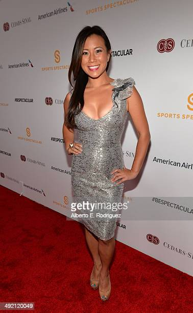 TV personality Angela Sun arrives on the red carpet at the 2014 Sports Spectacular Gala at the Hyatt Regency Century Plaza on May 18 2014 in Century...