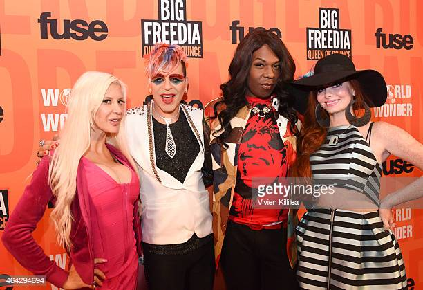 TV personality Angelique Frenchy Morgan artist Sham Ibrahim TV personality Freddie 'Big Freedia' Ross and actress Phoebe Price attend the 'Twerk Of...