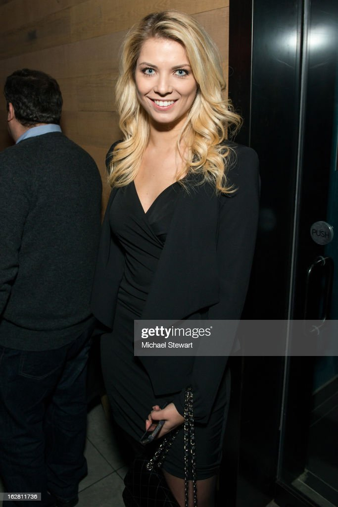 TV personality Anna Demidova attends The ONE Group's Ristorante Asellina celebrates two years on Park Avenue South NYC at Ristorante Asselina on February 27, 2013 in New York City.