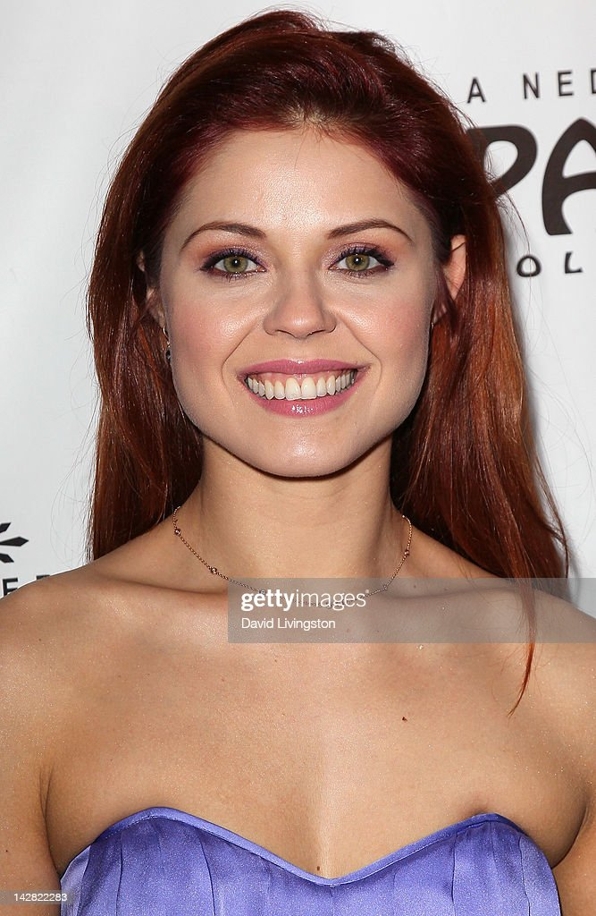 TV personality Anna Trebunskaya attends the opening night of 'Billy Elliot' at the Pantages Theatre on April 12, 2012 in Hollywood, California.