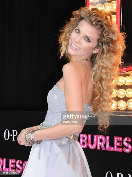 TV personality AnnaLynne McCord arrives at the Los Angeles Premiere 'Burlesque' at Grauman's Chinese Theatre on November 15 2010 in Hollywood...