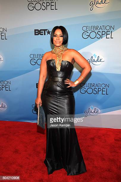 Personality April Daniels attends BET Celebration Of Gospel 2016 at Orpheum Theatre on January 9 2016 in Los Angeles California
