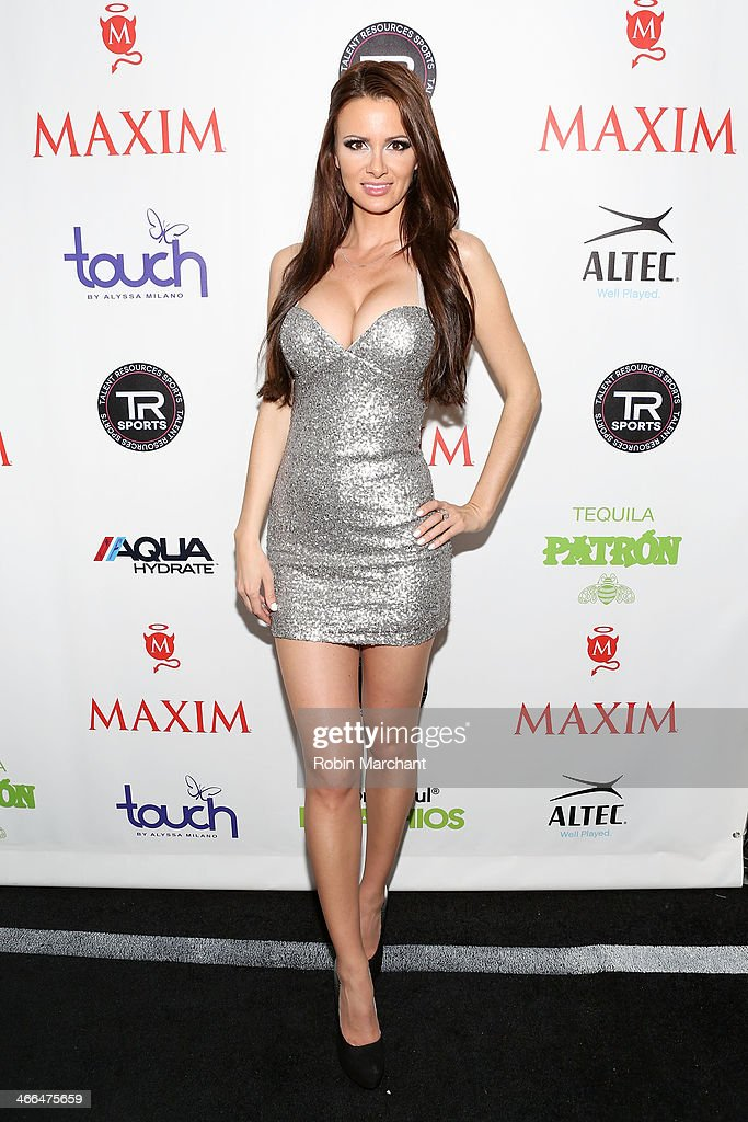 TV personality April Rose attends Talent Resources Sports presents MAXIM 'BIG GAME WEEKEND' sponsored by AQUAhydrat Heavenly Resorts Wonderful...