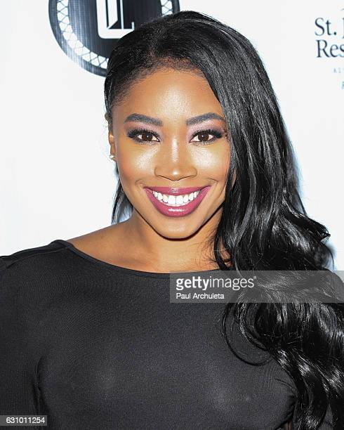 Personality Ariane Andrew attends the 1st annual Louie The XIII charity event at Boulevard3 on January 4 2017 in Hollywood California