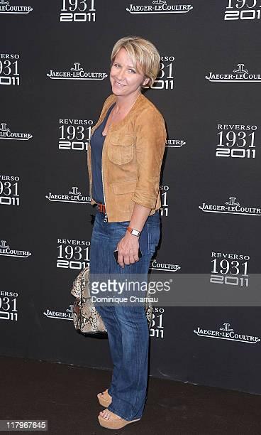 TV personality Ariane Massenet attends the JaegerLecoultre Reverso 80th Anniversary at Les BeauxArts de Paris on June 28 2011 in Paris France