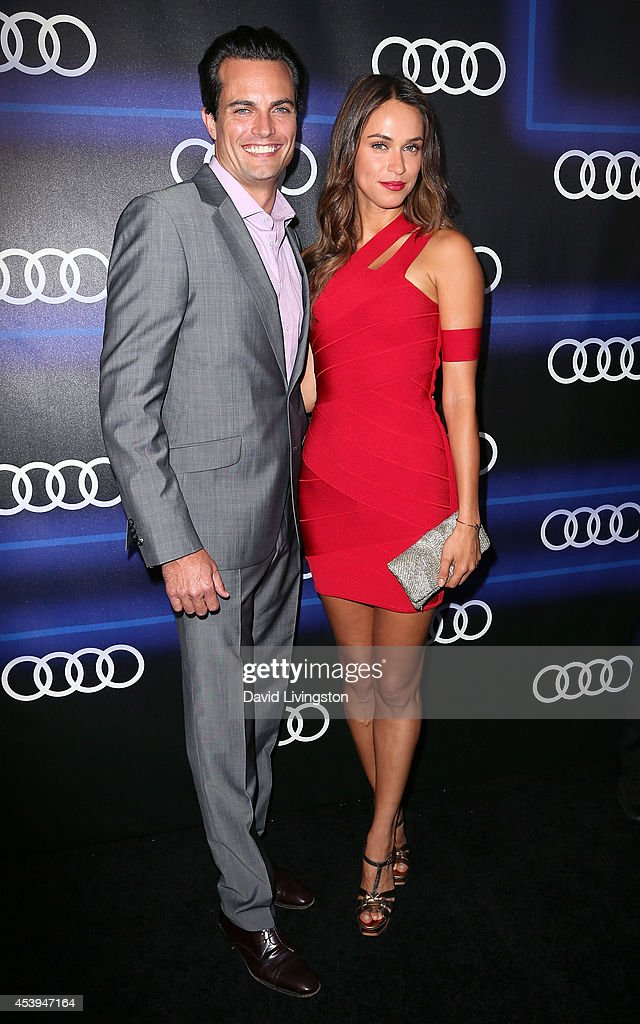 TV personality Asha Leo (R) and guest attend the Audi celebration of Emmys Week 2014 at Cecconi's Restaurant on August 21, 2014 in Los Angeles, California.