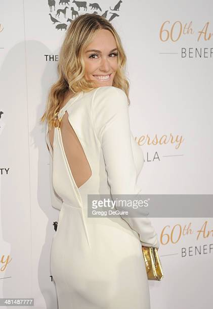 TV personality Ashlan Gorse arrives at The Humane Society Of The United States 60th anniversary benefit gala at The Beverly Hilton Hotel on March 29...