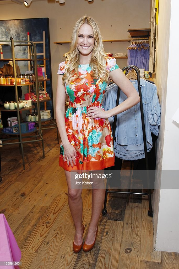 TV personality Ashlan Gorse attends 'A Letter To My Dog: Notes To Our Best Friends' Cocktail Party And Book Signing at Anthropologie on April 4, 2013 in Beverly Hills, California.