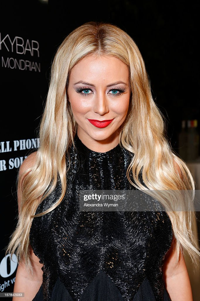 TV personality Aubrey O'Day attends Voli Light Vodka's Holiday Party hosted by Fergie Benefiting Cellphones for Soldiers at SkyBar at the Mondrian Los Angeles on December 6, 2012 in West Hollywood, California.