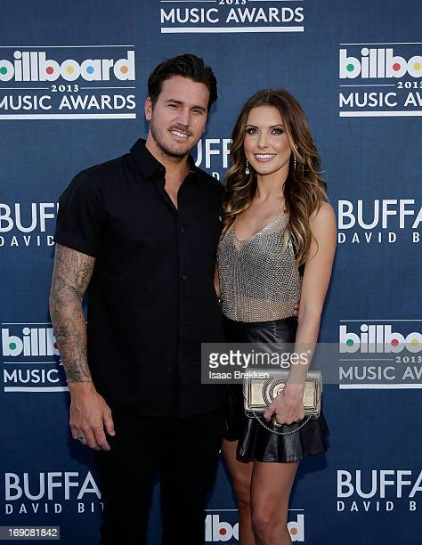 TV personality Audrina Patridge and Corey Bohan arrive at the Buffalo David Bitton red carpet at the 2013 Billboard Music Awards at the MGM Grand...