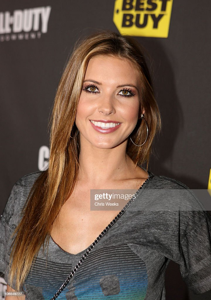 TV personality <a gi-track='captionPersonalityLinkClicked' href=/galleries/search?phrase=Audrina+Patridge&family=editorial&specificpeople=2584350 ng-click='$event.stopPropagation()'>Audrina Patridge</a> arrives at the Call Of Duty: Black Ops Launch Party held at Barker Hangar on November 4, 2010 in Santa Monica, California.