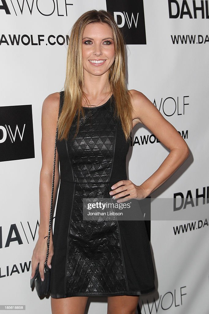 TV personality Audrina Patridge attends the Dahlia Wolf Launch Party at Graffiti Cafe on October 22, 2013 in Los Angeles, California.