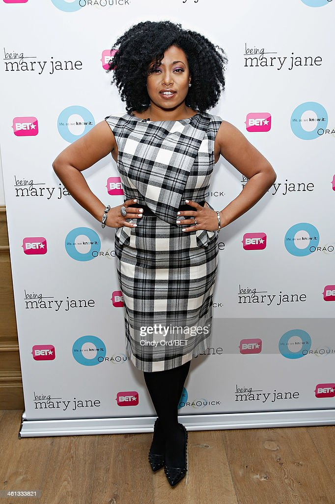 TV personality/ author Demetria Lucas attends as BET Networks partners with OraQuick for 'Life As We Know It', a special panel series about relationships and an advance screening of the program 'Being Mary Jane' at The Crosby Hotel on January 7, 2014 in New York City.