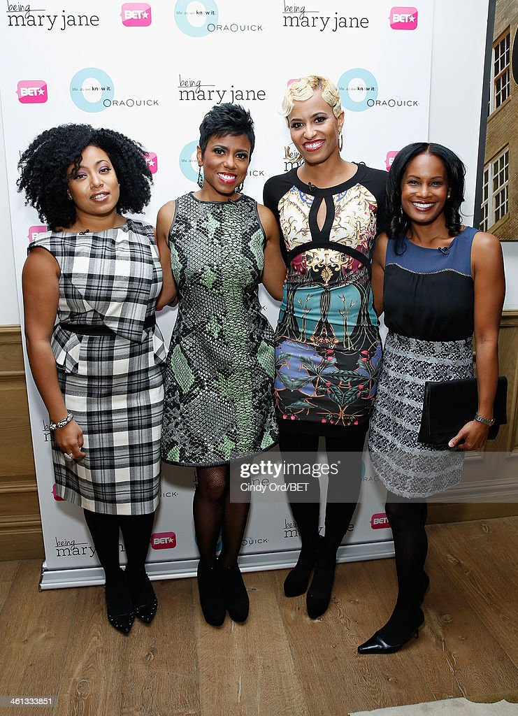 TV personality/ author Demetria Lucas, TV/ radio personality Jacque Reid, TV personality Dr.Rachael Ross and actress Robinne Lee attend as BET Networks partners with OraQuick for 'Life As We Know It', a special panel series about relationships and an advance screening of the program 'Being Mary Jane' at The Crosby Hotel on January 7, 2014 in New York City.