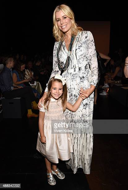 TV personality Aviva Drescher and daughter Sienna Drescher attend Carmen Marc Valvo Women's and Men's Collection S/S 2016 during New York Fashion...