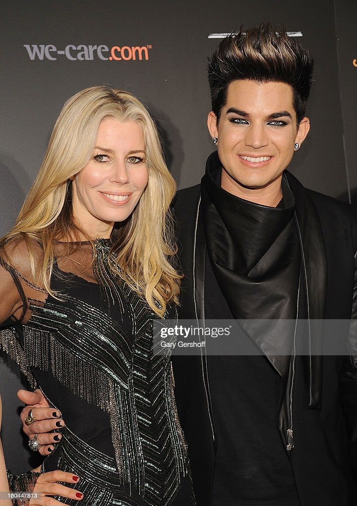 TV personality Aviva Drescher (L) and event honoree Adam Lambert attend 2013 We Are Family Foundation Gala at Hammerstein Ballroom on January 31, 2013 in New York City.