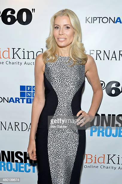 TV personality Aviva Drescher attends the 'BidKind Presents World's Fairs #LostUtopias' Curated By Kipton Cronkite Exhibition Private Collector...