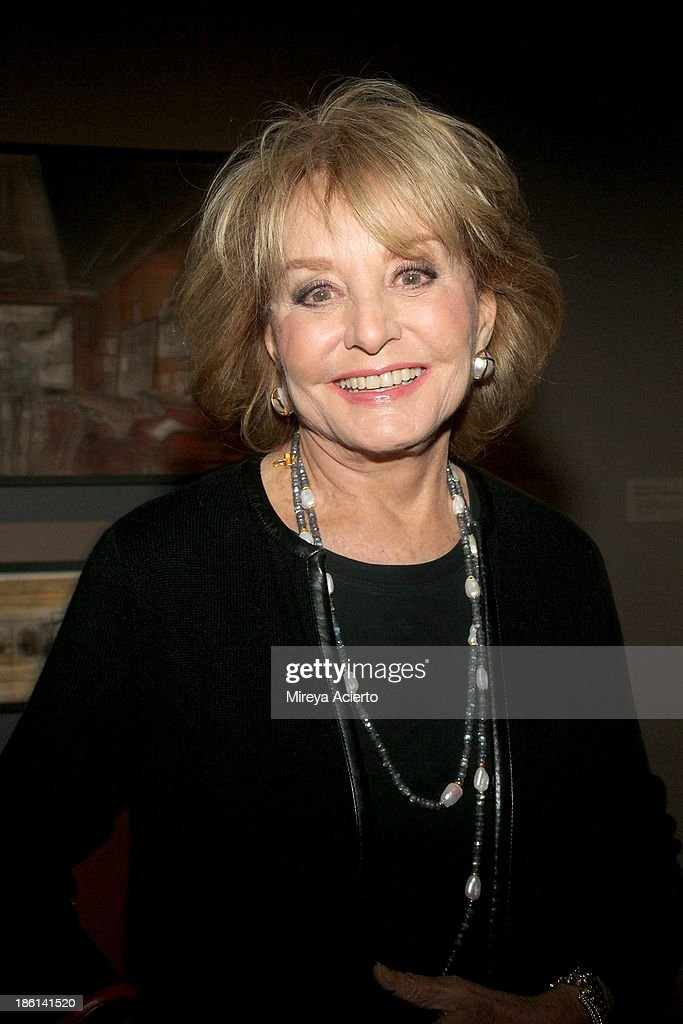 TV Personality Barbara Walters arrives as Ralph Lauren Presents Exclusive Screening Of Hitchcock's To Catch A Thief Celebrating The Princess Grace Foundation at MoMA on October 28, 2013 in New York City.
