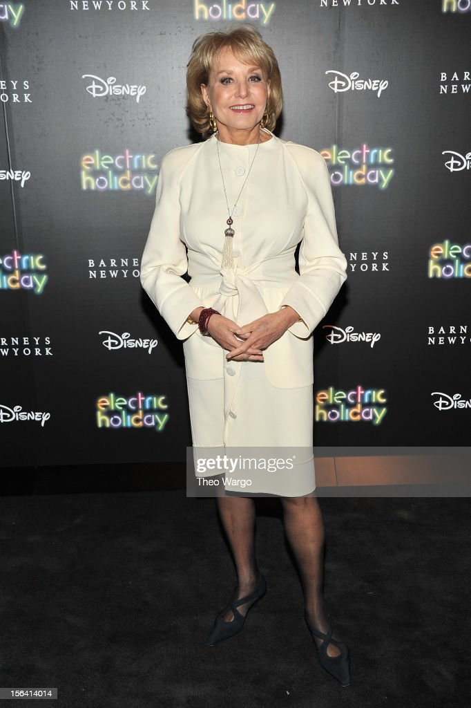 TV Personality Barbara Walters attends Barneys New York And Disney Electric Holiday Window Unveiling Hosted By Sarah Jessica Parker, Bob Iger, And Mark Lee on November 14, 2012 in New York City.