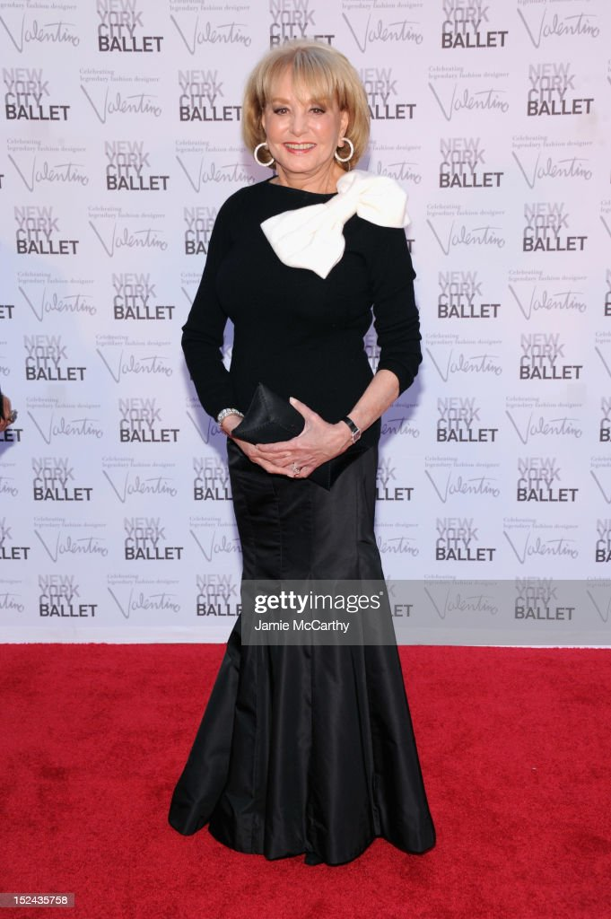 TV personality Barbara Walters attends the 2012 New York City Ballet Fall Gala at the David H. Koch Theater, Lincoln Center on September 20, 2012 in New York City.