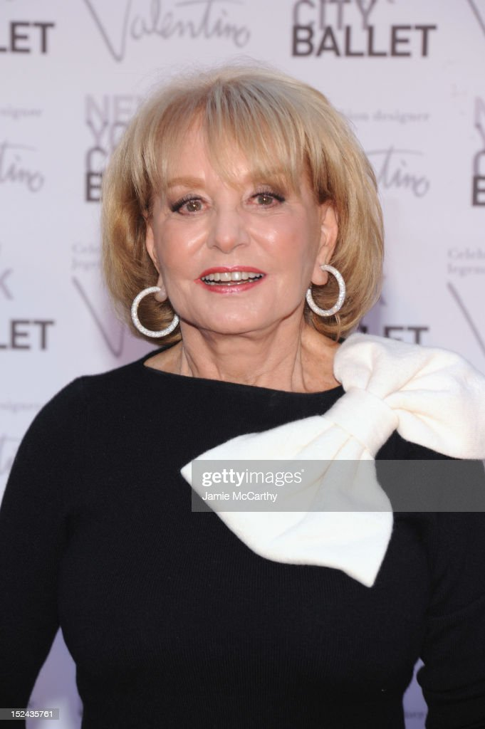 TV personality <a gi-track='captionPersonalityLinkClicked' href=/galleries/search?phrase=Barbara+Walters&family=editorial&specificpeople=201871 ng-click='$event.stopPropagation()'>Barbara Walters</a> attends the 2012 New York City Ballet Fall Gala at the David H. Koch Theater, Lincoln Center on September 20, 2012 in New York City.