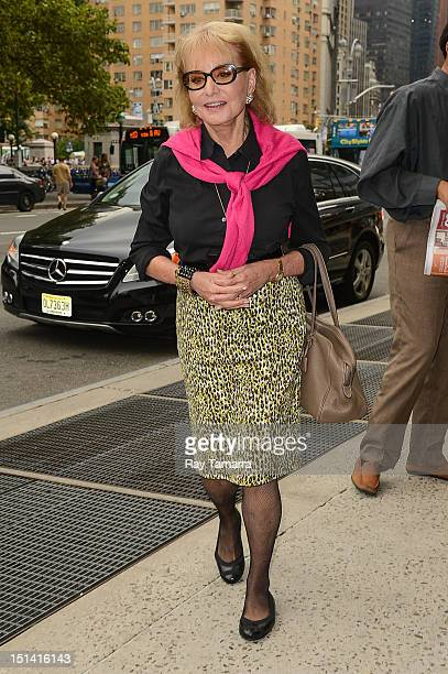 TV personality Barbara Walters enters a Midtown Manhattan hotel on September 6 2012 in New York City