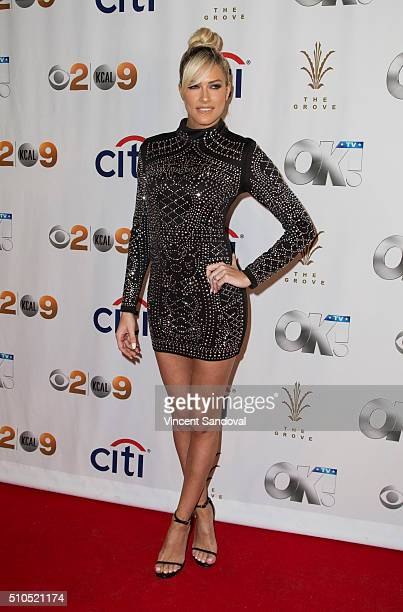 TV personality Barbie Blank attends Citi And OK TV Host GRAMMY viewing party at The Grove on February 15 2016 in Los Angeles California