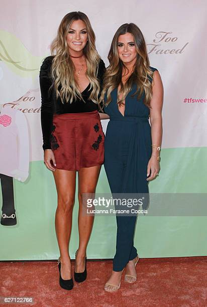 TV personality Becca Tilley and TV personality JoJo Fletcher attend Too Faced Cosmetics launch of their Sweet Peach Collection for spring 2017 at The...