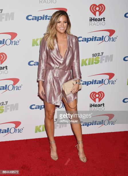 TV personality Becca Tilley arrives at 1027 KIIS FM's Jingle Ball 2017 at The Forum on December 1 2017 in Inglewood California