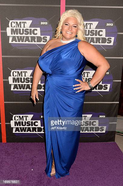 TV personality Beth Chapman arrives at the 2013 CMT Music Awards at the Bridgestone Arena on June 5 2013 in Nashville Tennessee