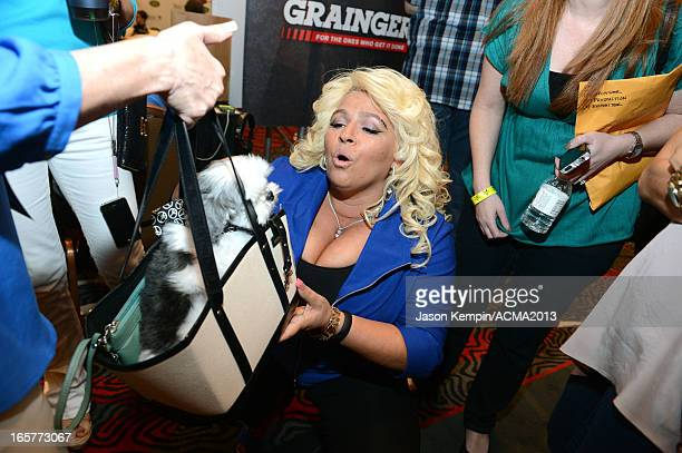 TV personality Beth Chapman attends the Dial Global Radio Remotes during The 48th Annual Academy of Country Music Awards at the MGM Grand on April 5...
