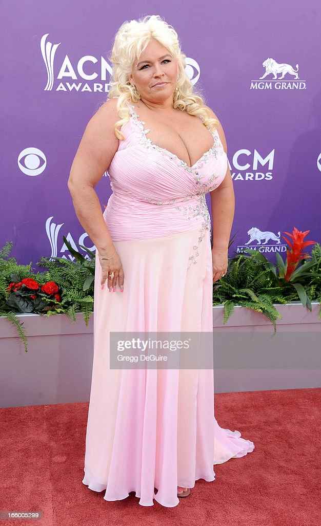 TV personality Beth Chapman of Dog the Bounty Hunter arrives at the 48th Annual Academy Of Country Music Awards at MGM Grand Garden Arena on April 7, 2013 in Las Vegas, Nevada.