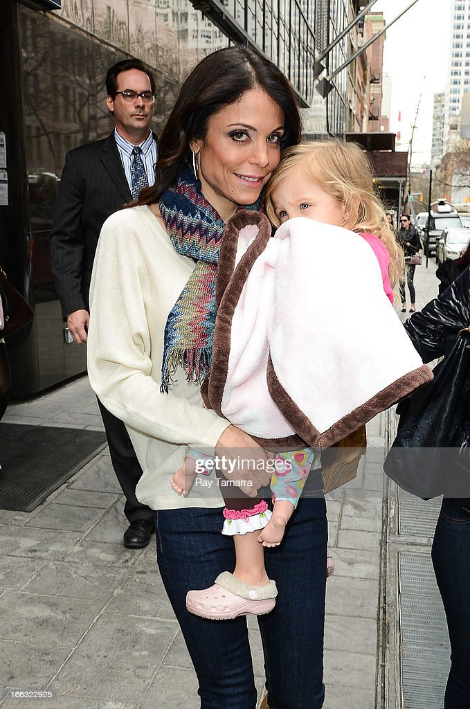 TV personality Bethenny Frankel (L) and Bryn Casey Hoppy leave the 'Good Day New York' taping at the Fox 5 Studio on April 11, 2013 in New York City.