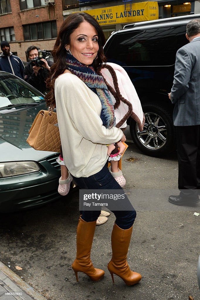 TV personality Bethenny Frankel leaves the 'Good Day New York' taping at the Fox 5 Studio on April 11, 2013 in New York City.