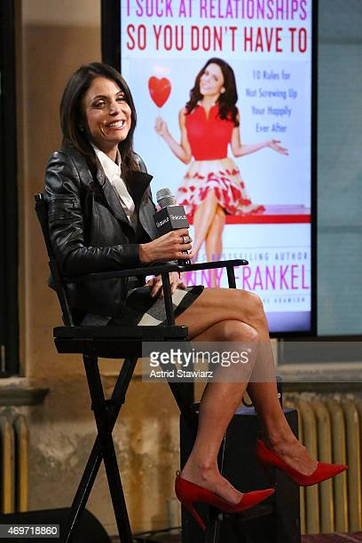 TV personality Bethenny Frankel promotes her new book 'I Suck At Relationships So You Don't Have To' at AOL Build at AOL Studios in New York on April...