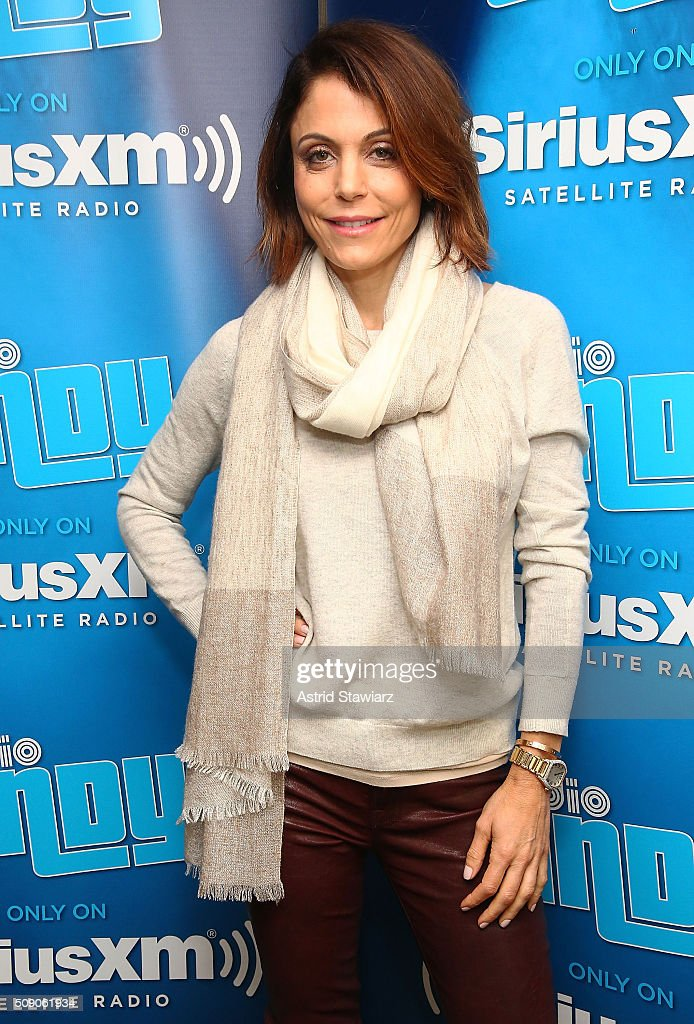 TV personality <a gi-track='captionPersonalityLinkClicked' href=/galleries/search?phrase=Bethenny+Frankel&family=editorial&specificpeople=873539 ng-click='$event.stopPropagation()'>Bethenny Frankel</a> visits the SiriusXM Studios on February 8, 2016 in New York City.
