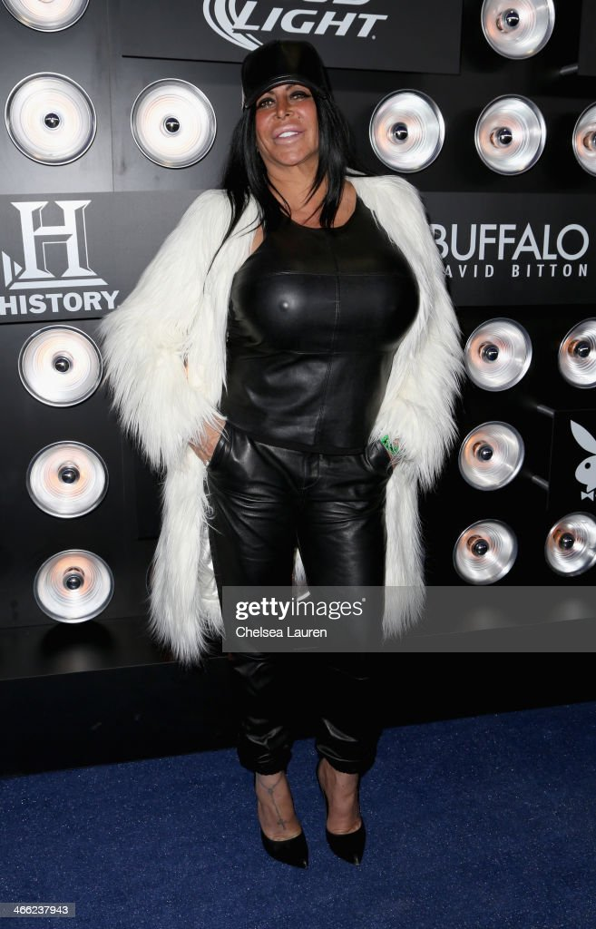 TV personality Big Ang attends The Playboy Party at The Bud Light Hotel Lounge on Friday January 31 2014 in New York City