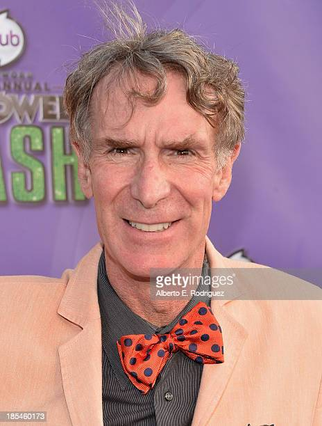 TV personality Bill Nye attends the Hub Network's 1st Annual Halloween Bash at Barker Hangar on October 20 2013 in Santa Monica California
